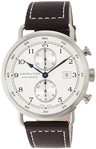 Hamilton Khaki Navy–Reloj de Pulsera Hombre 44mm Pulsera Piel marrón gehãƒâ ¤ Use Acero Inoxidable automático h77706553