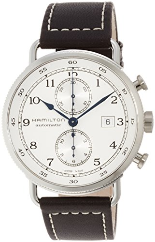 Hamilton Men's Stainless Steel Swiss-Automatic Watch with Leather...