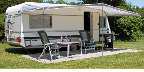 Eurotrail Universal Sonnensegel 460x240cm für Wohnwagen Größe 820-860cm grau
