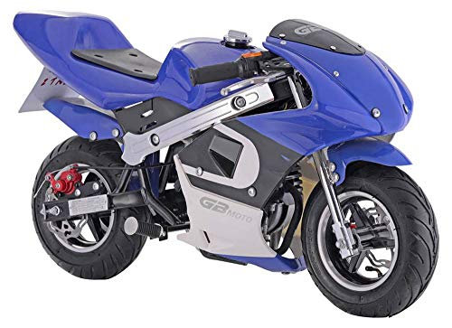 GBmoto Gas Pocket Bike 40cc 4-Stroke in Blue