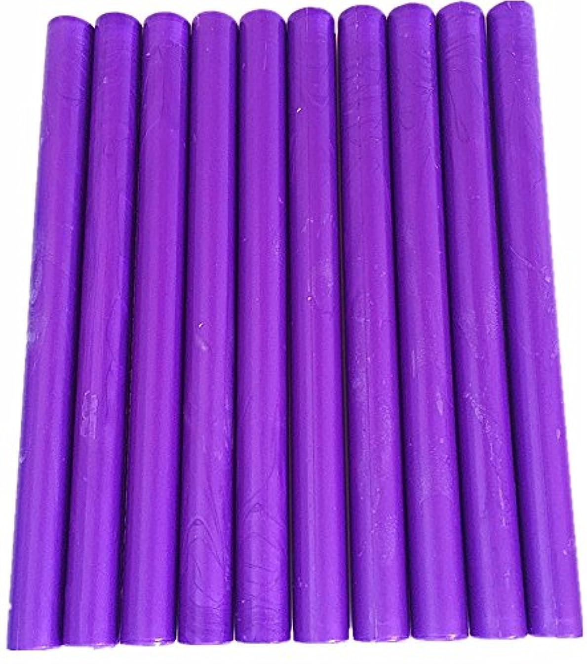 XICHEN10PCS Vintage Sealing Glue Gun Sealing Wax Wax Sticks Wax Seal Supplies a Variety of Colors (Purple)