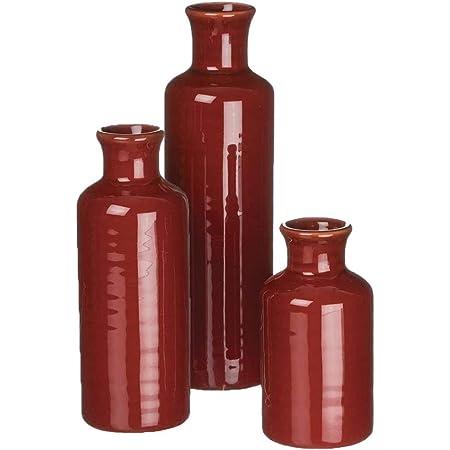 Christmas Red Vase Valentine Vase Red Flower Vase Pottery Ceramic Sack Style Ribbon Vase