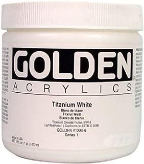 Acrylic - Golden Heavy Body Acrylics Titanium White 16oz jar