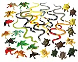 36 Piece Frogs, Turtles & Snakes Toy Animal Figures Bundle