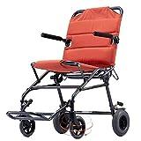 DLC@ED Rollstuhlklappbares leichtes Boarding verfügbar Vollreifen-Sicherheitsbremspedal Transport Tragbares Reisen Geeignet für Personen mit eingeschränkter Mobilität gku -