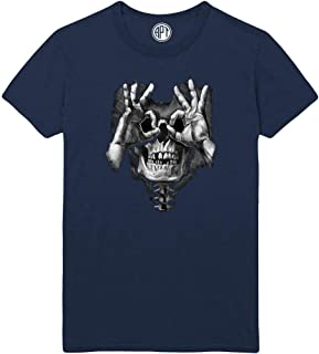 Luctus Skull Hands Printed T-Shirt
