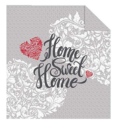 Tagesdecke Größe: 220 x 240 cm (Home Sweet Home Beige)