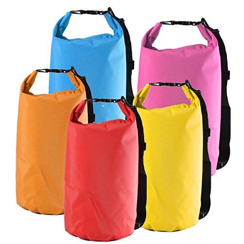 feilai Bolsa seca impermeable para camping, senderismo, canoa, kayak, natación, rafting (color: naranja)