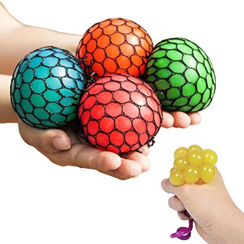 Chilits Antistressbälle für den Stressabbau, Mesh Grape Ball Depression Anti-Stress-Bälle, Anti Stress Knetball Spielzeug, für Stressabbau und besseren Fokus für Erwachsene Kinder
