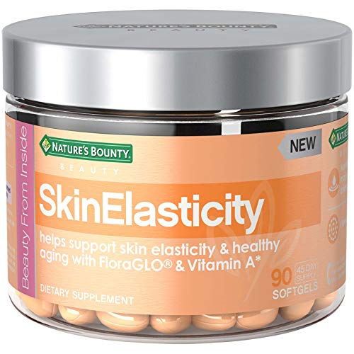 Nature's Bounty Skin Elasticity with Vitamin A + Floraglo, Support Immune System*, Helps Support Skin Elasticity & Healthy Aging*, 90 Softgels
