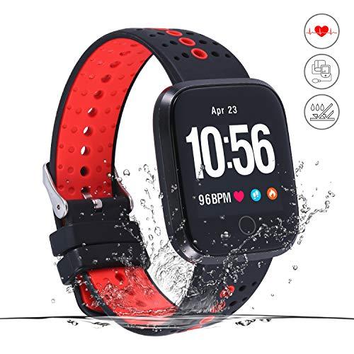 Movaty Fitness Armbanduhr, Y-2 Smart Bracelet mit Pulsmesser,Wasserdicht IP67 Aktivitätstracker mit Schlafmonitor, Schrittzähler, Kalorienzähler, SMS Anrufe Reminder für iOS und Android