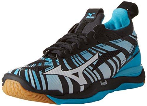 Mizuno Mizuno Herren Waver Mirage Leichtathletik-Schuh, Blu Blue Atoll White Black, 45 EU
