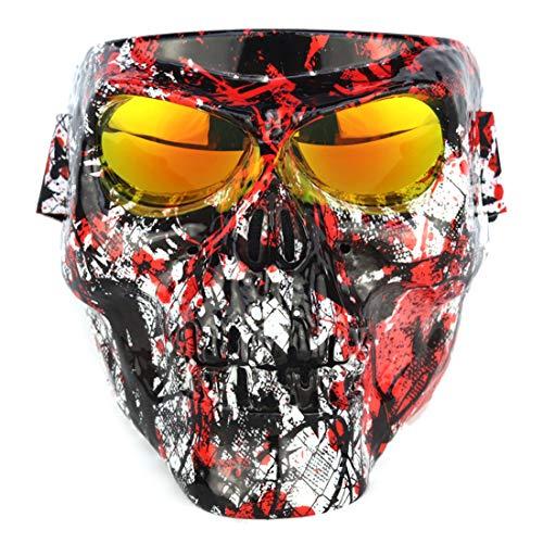 K9CK Taktische Maske, 18cm Schutzmaske im Klassisch-Stil für Paintball Nerf, CS, Nerf Rival