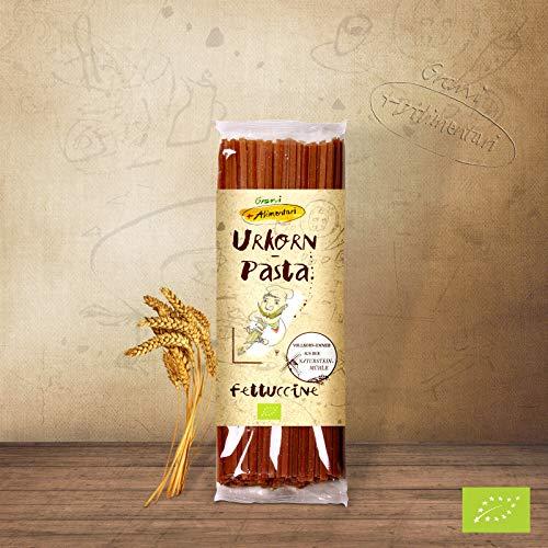 Grani Alimentari 'Urkorn-Fettuccine' aus Vollkorn-Emmer -Bio 500g, feine Nudeln aus Italien, für...