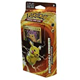 Pokemon TCG: XY Evolutions Pikachu Power Theme Deck – 60 Card Theme Deck & Collectible Trading Set | Includes Card Checklist, 1 Metallic Coin, 2-Player Rulesheet, Playmat, Damage Counters, 1 Deck Box