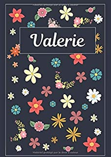 Valerie: Journal   Agenda   Carnet de Notes   120 pages   A4   Blanc   Idée Cadeau