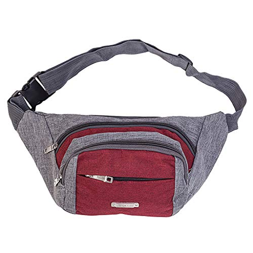 Best Buy! Leaf2you Oxford Fanny Pack Lightweight Quick Release Buckle Waist Bags Chest Bag Bum Bag S...