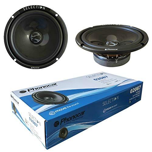 2 altoparlanti compatibile con PHONOCAR SELECTION 02087 woofer 20,00 cm 200 mm 8' di diametro 260 watt rms 600 watt max 4 ohm 90 db spl auto, a coppia