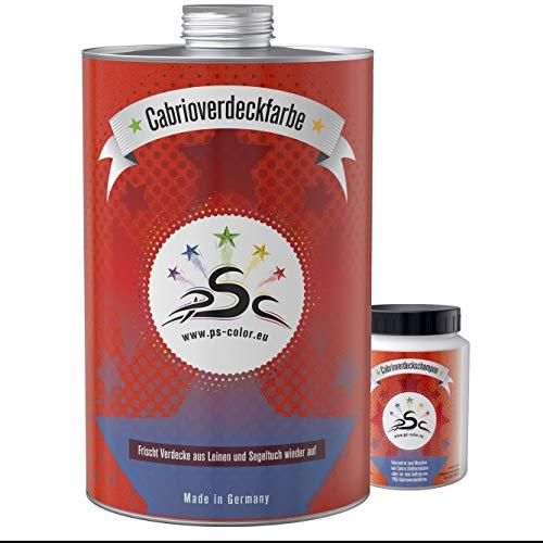 Penta Star Color Set-1 PSC-Cabrio-verdeck-Farbe 1000 ml Schwarz mit 100 ml Shampoo Nach-färben Farb-auffrischung Reiniger Reiniger Konzentrat Zusatz Pflege