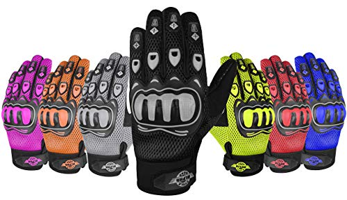 ALPHA CYCLE GEAR MOTO SPORTS GLOVES (BLACK, LARGE)