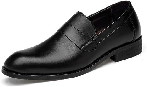 zapatos Oxford para hombres de Negocios zapatos Formales Slip on Style OX Leather Confortable Round Toe .zapatos de Moda