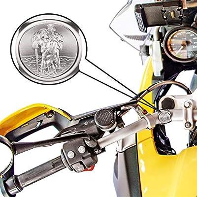 Fritz Cox® - Mein Schutzengel auf Zwei Rädern für jedes Fahrrad geeignet; in Geschenk-Verpackung; Geeignet für Kinder, Frauen & Männer (St. Christopher - protecteur Pour vélo et Moto)