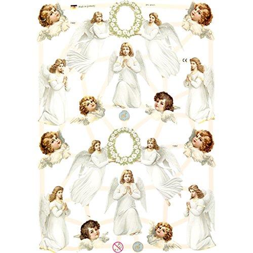 16,5/x/23,5/cm, 3 Hojas Creativ Pegatinas Decorativas dise/ño de /ángeles