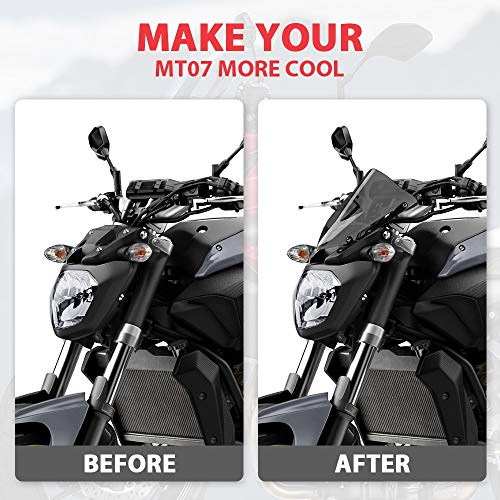 Parabrisas Claro Parabrisas Motocicleta Fit For YAMAHA MT07 MT07 Parabrisas Parabrisas En Fit For El FZ07 2014 2015 2016 2017 Deflectores De Viento Accesorios De La Motocicleta Parabrisas de motocicle