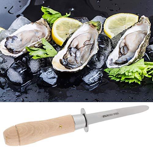 Cuchillo para ostras, largo, herramienta para abrir ostras, seguro, alta dureza para vieiras
