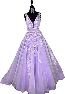Abaowedding Women s Wedding Dress for Bride Lace Applique Evening Dress V  Neck Straps Ball Gowns 72fb39c291c5