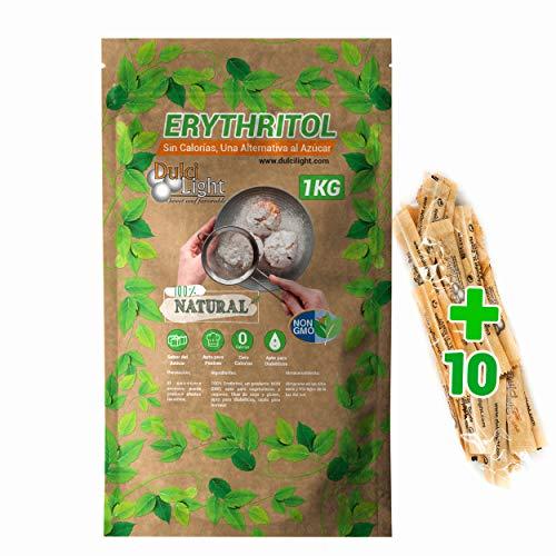 Eritritol 1Kg 100% Natural Edulcorante Cero Calorias DulciLight. Ideal para Reposteria, y...