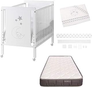 Cuna colecho de bebe Indi + Kit colecho + Colchón HR + 4 ruedas + REGALO Cool-Dreams