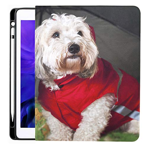 Ipad Pro 12.9 Case 2020 & 2018 with Pencil Holder Two Coton De Tulear Dogs Raincoats Smart Cover Ipad Case, Supports 2nd Gen Pencil Charging,case for 2020 Ipad Pro 12.9 Cover with Auto Sleep/Wake