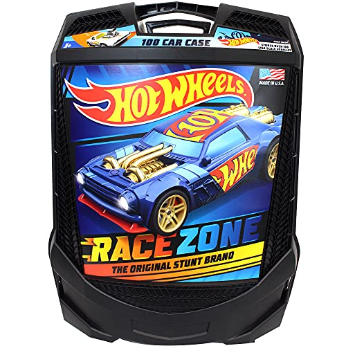 Hot Wheels 100-Car, Rolling Storage Case with Retractable Handle