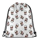 NINGXIE52365 Nutella 3D Print Drawstring Backpack Rucksack Shoulder Bags Gym Bag for Adult 16.9'X14'