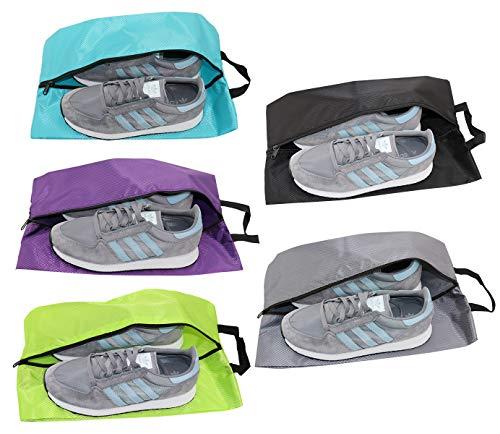 Bolsas de Zapatos para Viaje Multifunción Impermeable Bolsas de Zapatos con Cremallera para Hombres y Mujeres (5XL, Nylon)
