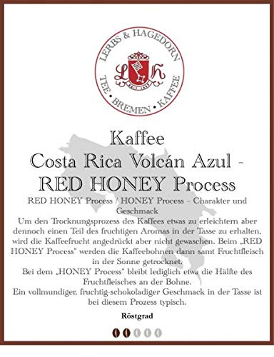 Costa Rica Volcán Azul - RED HONEY Process Kaffee 1kg