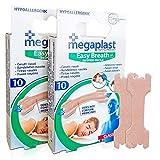 Tiras Nasales Antironquidos Nariz- 20 Tiritas Megaplast Breathe Right - Remedios para no roncar - Respirador Contra Ronquidos y Mejora Calidad del Sueo - Nasal Strips Deportivas