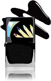 Color Fever Ultra Sparkle Nail Color - Long Wear Nail Paint - Matte Shine (Black) 9ml