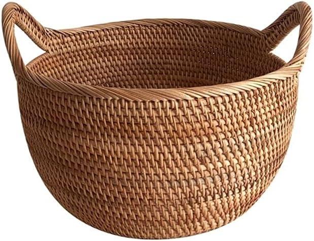 GANN Max 59% OFF Creative Year-end gift Food Storage Picnic Round Basket wit Wicker
