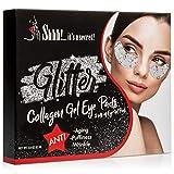 Collagen Under Eye Mask Moisturizer | Eye Mask For Wrinkles, Puffiness, Dark Circles, Anti-Aging | Glitter Enhanced Best Kept Eye Secrets Treatment (5 Pairs)