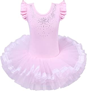 BAOHULU Little Girls' One-Piece Lace Collar Tutu Ballet Dress