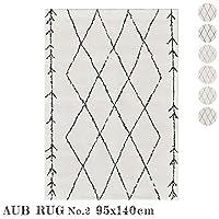 ラグ AUV No.2 rug 95×140cm マット 絨毯 じゅうたん カーペット TypeD