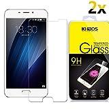 [2-Pack] for Meizu M5 Note 2017 / Meizu Note5 Screen Protector Glass, Khaos Tempered Glass Screen Protector,