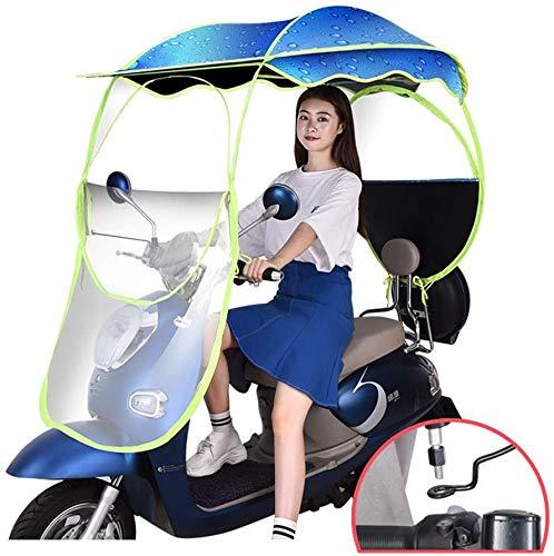 Wxnnx - Toldo universal de protección solar impermeable a la lluvia, para scooters, batería de coche, moto, azul, no viewmirror