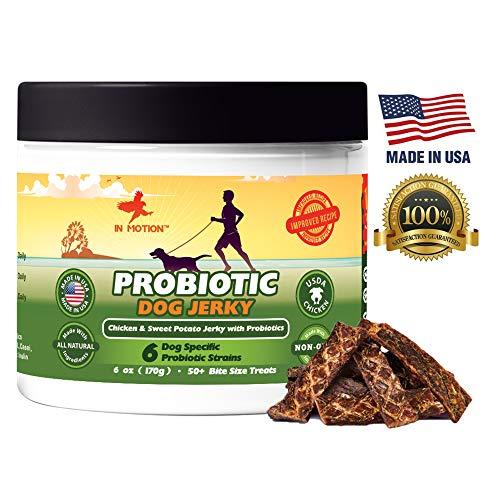 Healthy Dog Treats Probiotic Jerky- All Natural Chicken Sweet Potato Pet...