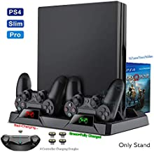 PS4/Pro/Slim Console Cooling Fan Stand Controller Charger Charging Station Games Discs Storage for Play Station PS 4 Acces...