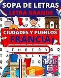 Sopa de letras letra grande: 80 rompecabezas sobre el tema de las ciudades y los pueblos de Francia | Juegos para encontrar los nombres de ciudades y pueblos de Francia