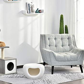 Pawhut Maison pour Chat Panier Chat lit Chat Design Contemporain Doonut dim. 48L x 42l x 29H cm polypropylène Blanc