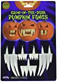 Pumpkin Pro 94684pdq Glow-in-The-Dark Pumpkin Either Fangs or Buck Teeth